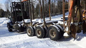 Log truck and trailer for sale