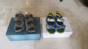 Geox size 10 and Ultimate Spiderman Sandels boys size 12