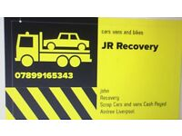 SCRAP CARS AN RECOVERY WORK WANTED NOW