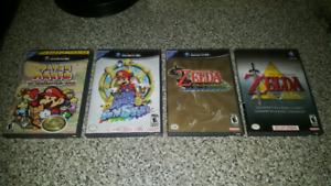 Game Cube Games ( Paper Mario / Zelda ) Excellent Condition