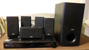 LG  Home Theater System with Blue Ray player