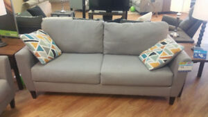 PELSOR GREY SOFA/LOVESEAT