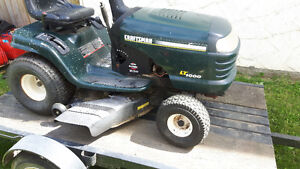 Craftsman riding tractor with trailer