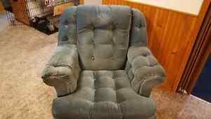 Blue Sofa and Chair -- new price Kawartha Lakes Peterborough Area image 2