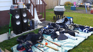 Two sets of hockey equipment