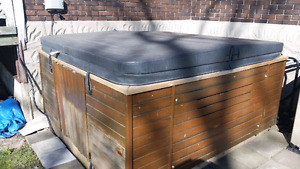 Hot tub, wiring, and base
