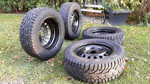 4 Winter Tires with Rims-205/60R15 Hankook Tires Kitchener / Waterloo Kitchener Area image 5