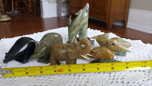 Soapstone Animal Carvings