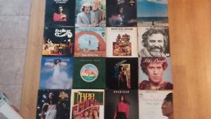 Disques vinyles 33 et 45 tours