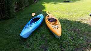 TWO PELICAN KAYAKS FOR SALE