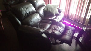 Lazyboy leather recliner and love seat