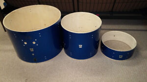 ddrum D2 DRUM SHELLS IN BLUE WRAP