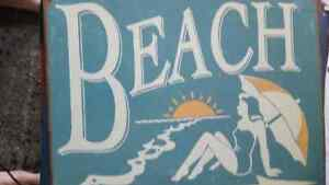 Beach tin sign London Ontario image 1
