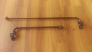 Small swivel curtain rods