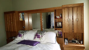 Queen headboard with side towers
