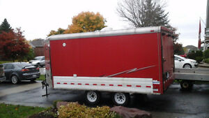 2000  8 x 18 V nose pace snowmobile or cargo trailer.
