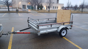 2012 Stirling Galvanized Utility Trailer, 5 x 7-ft