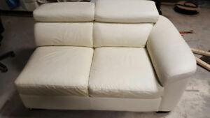 Divan 4 modules blancs
