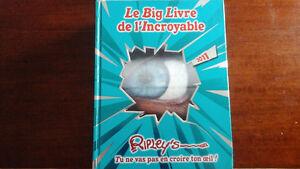 Record guinness, le big livres de l incroyable Ripley's et autre