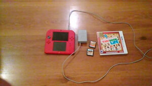 Red 2ds With Mario Kart 7