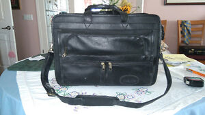 Soft Black Shoulder Brief Case by Bugam
