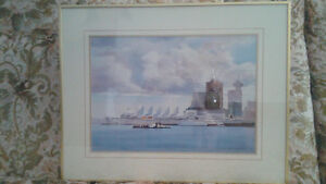 Vancouver - Gold Framed Prints - By Canadian Artist Kiff Holland