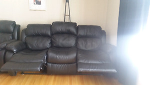 Leather Reclining Couch and love seat