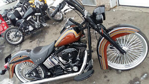 "CUSTOM SOFTAIL WITH 23"" FRONT WHEEL"