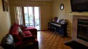 Furnished condo delux with padio and garage for rent in August