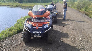 Atv with plow, great qwad for great price!