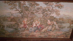 """78"""" x 41"""" French renaissance tapestry"""