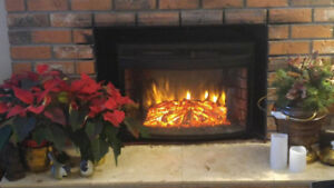 ELECTRIC FIREPLACE INSERT FOR YOUR OLD WOOD FIREPLACE