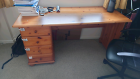 Office desk with 4 drawers