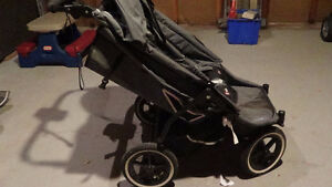 Phil and Ted E3 Twin side by side twin stroller