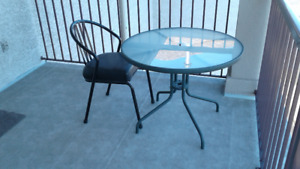 Patio Furniture, table and chair