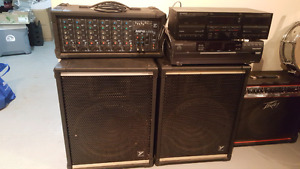 Yorkville Monitors with 6 channel mixer