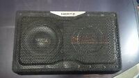 HERTZ 400 watt base speaker with built in Amp