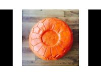 Moroccan pouffe made by camel leather