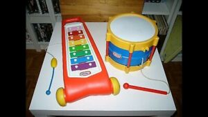 Jouets musicaux Little Tykes: xylophone, tambour 10$ Ch