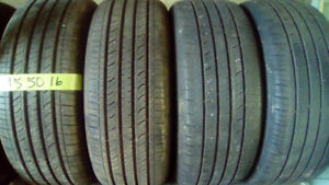 Four Hancook 195 50 16 all season tires. plus a free spare