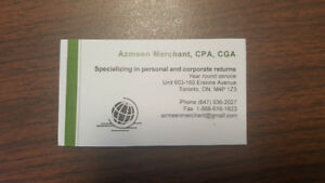 *PERSONAL RETURN $39 CORPORATE RETURN $299 BY LICENSED CPA*