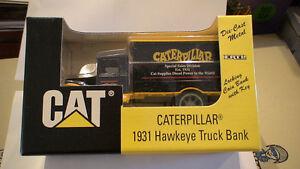 1931 Hawkete CATERPILLAR Truck Bank  1/34 scale  mint