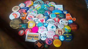 Collectible Pin-Back Buttons - Approximately 80