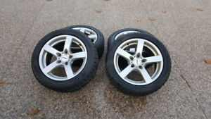 Snowtires and Rial rims from BMW 5 series