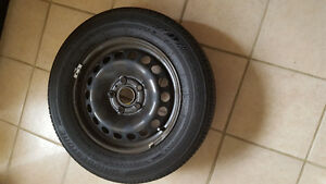 4 New BRIDGESTONE TIRES with Steel Rims for Sale