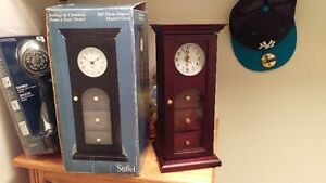 LIKE NEW Cherry Clock With 3 Drawers