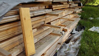 Logs for building homes, garages and sheds.