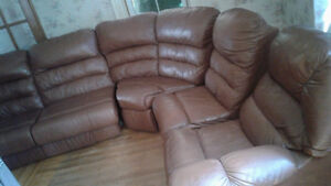 Palliser leather sectional couch