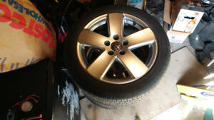 LIKE NEW FACTORY VW RIMS WITH GOOD TIRES