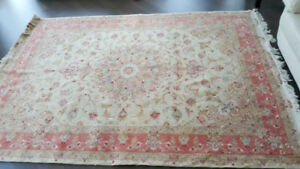 """Persian Rug """"Unique Tabriz rug with Wool and Silk"""""""